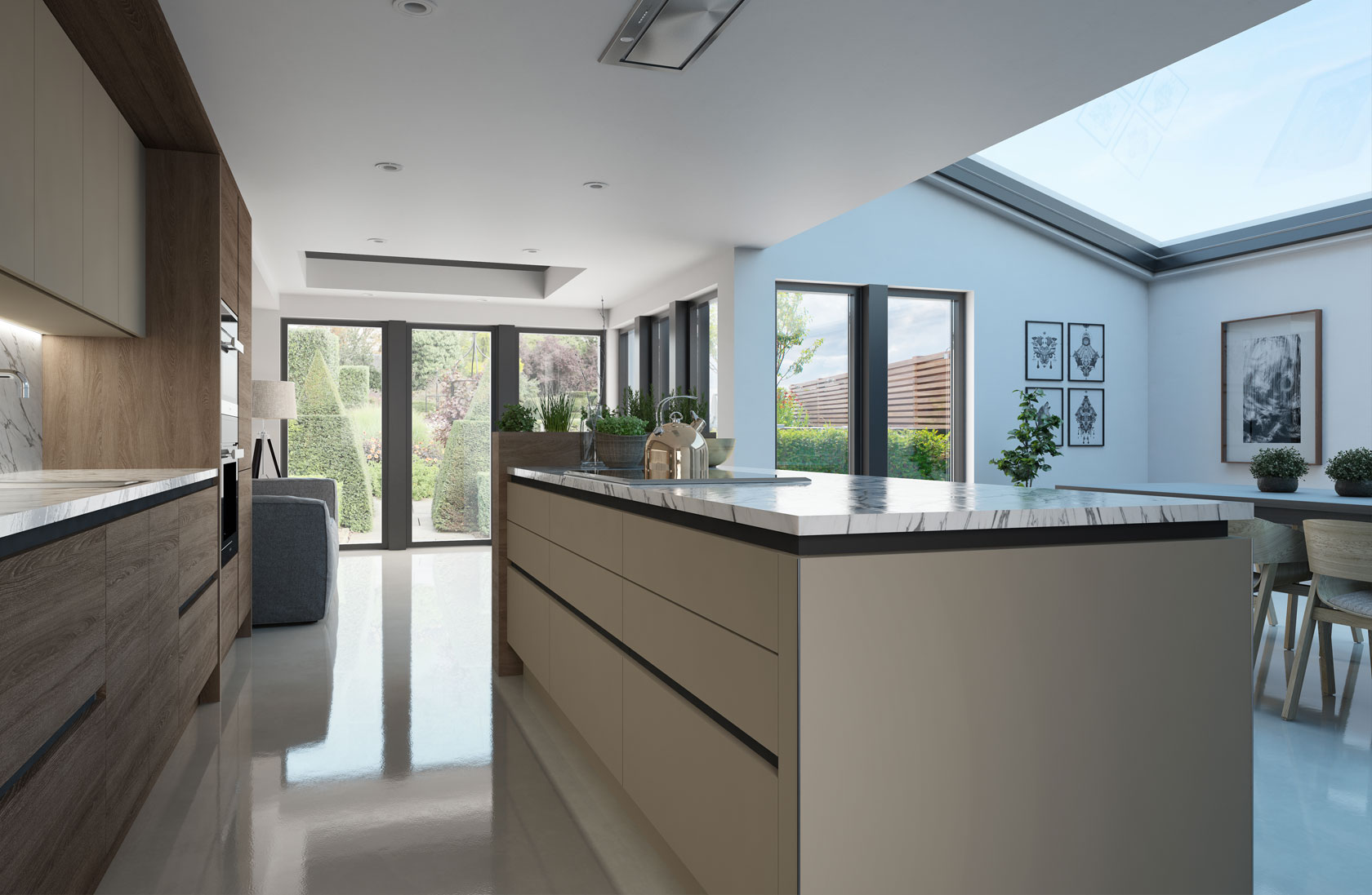 Modern fitted kitchen leeds