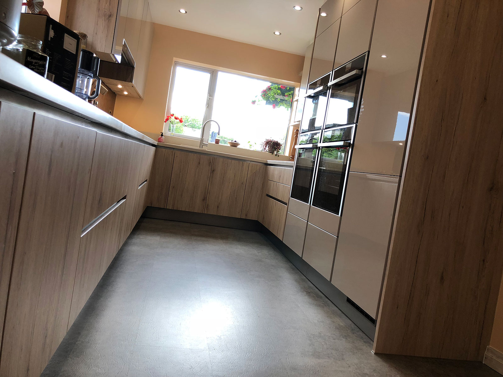 handless fitted kitchen In Scholes west Yorkshire